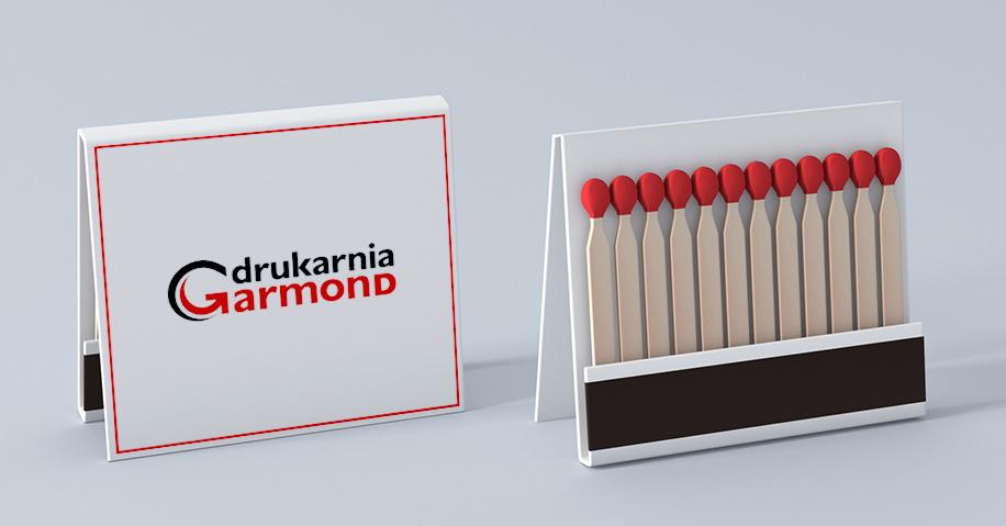 Zapałki reklamowe w nadrukiem Drukarnia Garmond
